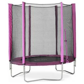 Plum 6ft Trampoline with Enclosure Pink