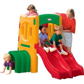 Little Tikes Outdoor Twin Slide Tunnel Climber.