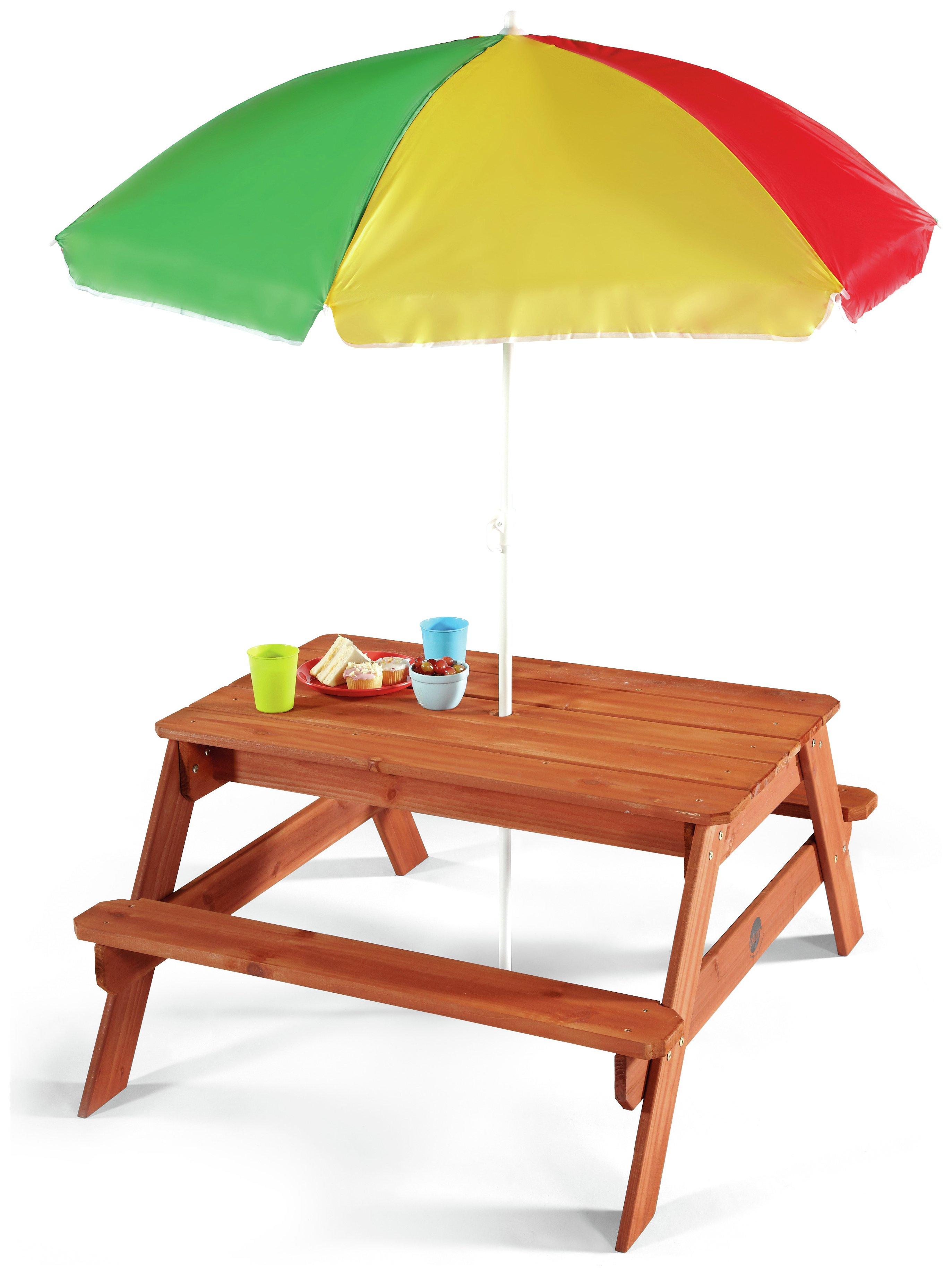 Plum Childrenu0027s Garden Picnic Table With Parasol