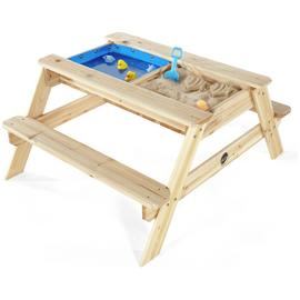 Plum Surfside Sand Pit and Water Wooden Picnic Table.