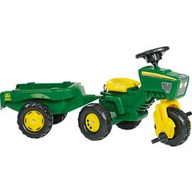 John Deere Trio Trac Child's Tractor and Trailer Ride On