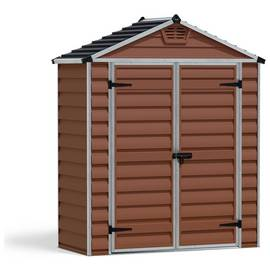 Palram Skylight Plastic Amber Garden Shed - 6 x 3ft Best Price, Cheapest Prices