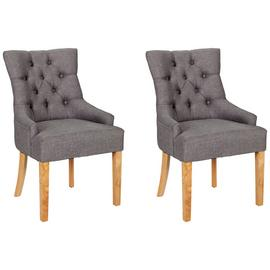 Argos Home Pair of Cherwell Dining Chairs - Charcoal