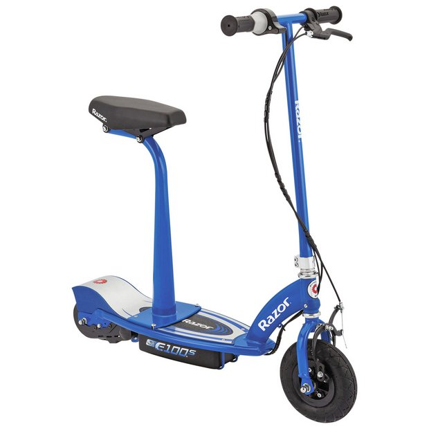 buy razor e100s electric scooter with seat blue at argos. Black Bedroom Furniture Sets. Home Design Ideas