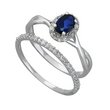 more details on 9ct White Gold 0.25ct tw Diamond & Sapphire Bridal Ring Set.