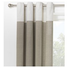 HOME Dublin Unlined Eyelet Curtains - 229 x 229cm - Stone