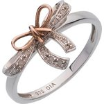 more details on 9ct Gold Plated Sterling Silver Diamond Bow Ring.