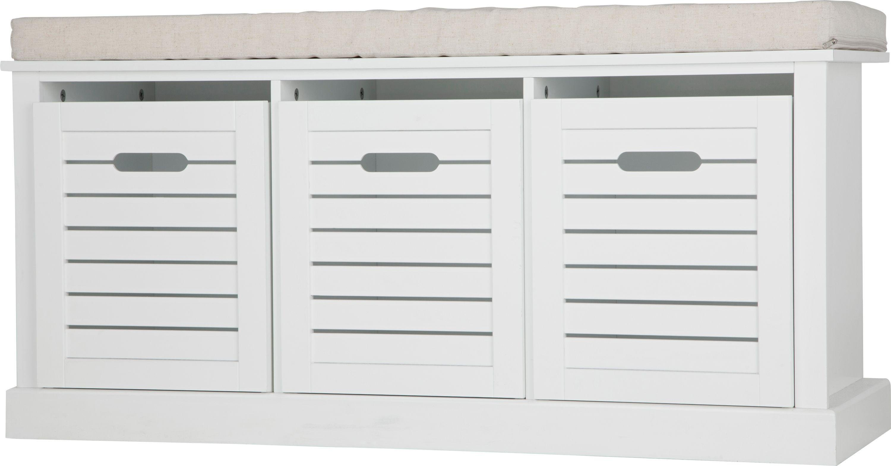 Buy Argos Home Hereford Storage Bench   White | Hallway Storage | Argos