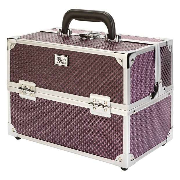 Buy Soho Purple Diamond Vanity Case Make Up Bags And