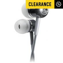 BassBuds In Ear Headphones with MP3 Controller - Silver