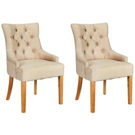Argos Home Pair of Cherwell Dining Chairs - Cream