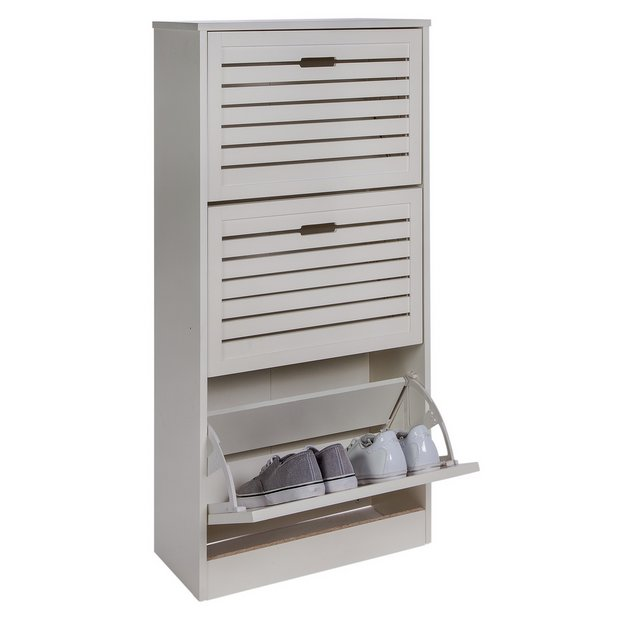 Buy home hereford shoe storage cabinet white at for Argos kitchen cabinets