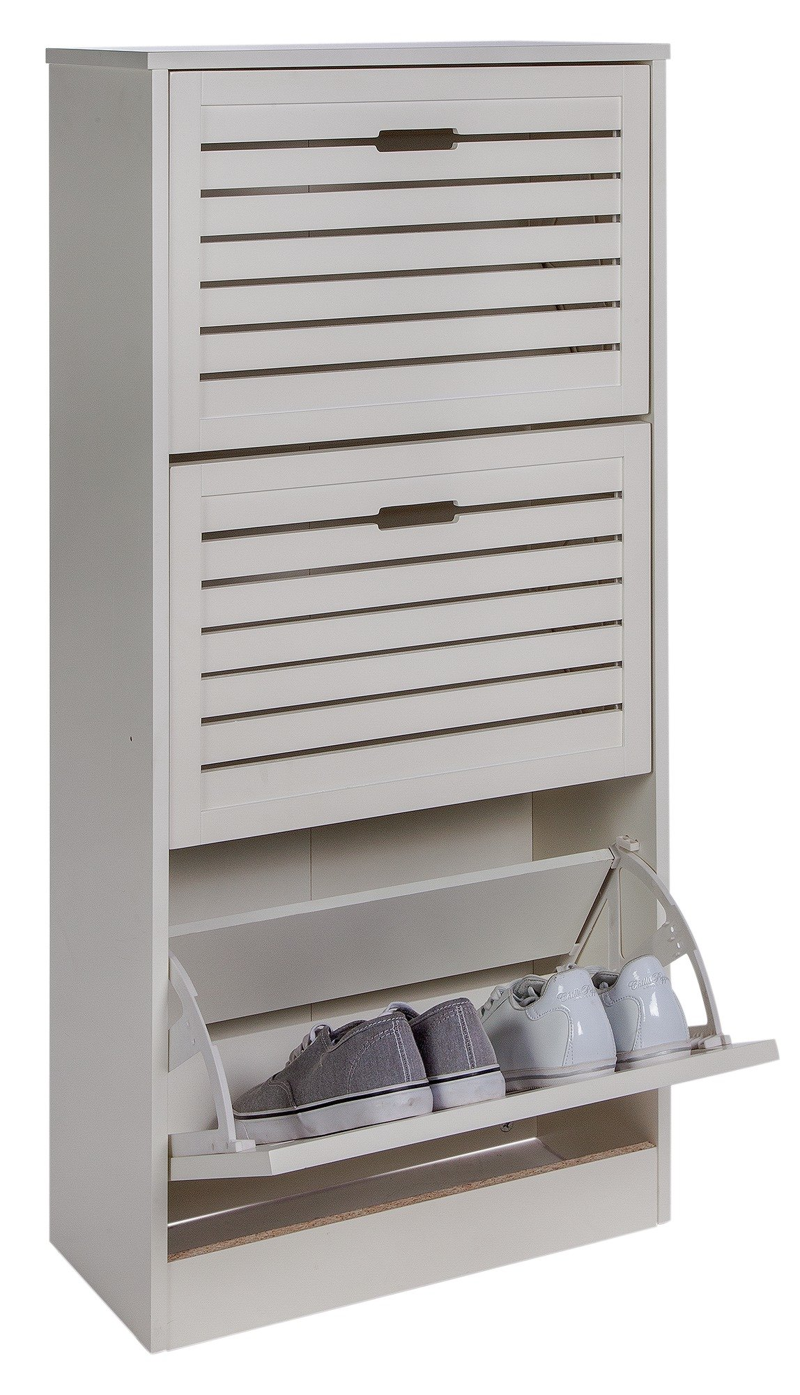 home hereford shoe storage cabinet white