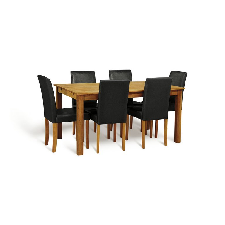 Buy HOME Ashdon Solid Wood Table amp 6 Mid Back Chairs  : 3928251RSETMain768ampw620amph620 from www.argos.co.uk size 620 x 620 jpeg 30kB