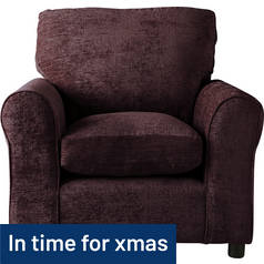 Argos Home Tessa Fabric Chair - Chocolate