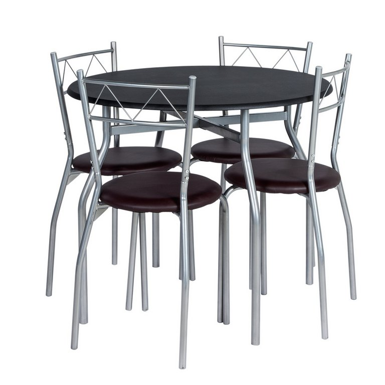 Buy HOME Oslo Round Dining Table amp 4 Chairs Black at  : 3929652RSETMain768ampw620amph620 from www.argos.co.uk size 620 x 620 jpeg 40kB