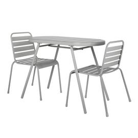 Argos Home 2 Seater Oval Bistro Set - Grey