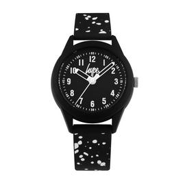 Hype Kids Black and White Splatter Silicone Strap Watch