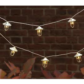 Argos Home 20 Fishermans Lantern Solar String Lights