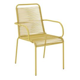 Argos Home Ipanema Metal Garden Chair - Yellow