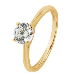 Revere 9ct Gold Cubic Zirconia Solitaire Ring
