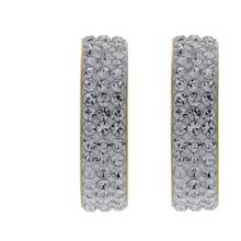 Evoke 9ct Gold Plated Silver Swarovski Crystal Hoop Earrings