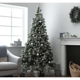 Argos Home 7ft Pre-lit Snow Tipped Christmas Tree - Green