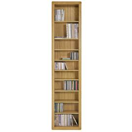 Argos Home Portland DVD and CD Storage Tower - Oak Effect