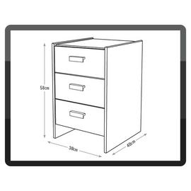 Argos Home Capella 3 Drawer Bedside Table
