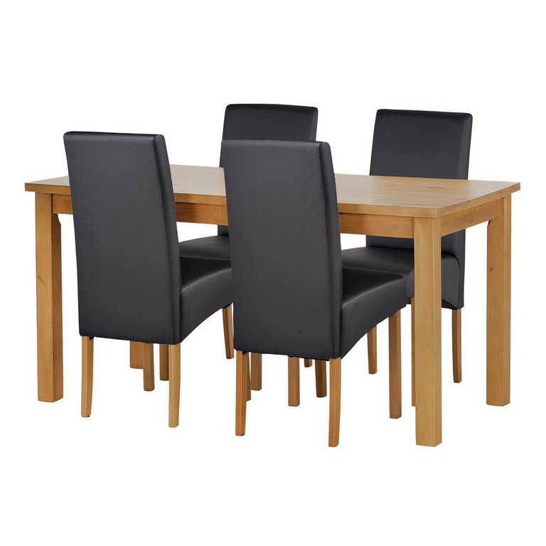 Buy HOME Lincoln Solid Wood Table amp 4 Skirted Chairs  : 3958197RSETMain768ampw620amph620 from www.argos.co.uk size 620 x 620 jpeg 28kB
