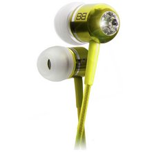 BassBuds In Ear Headphones with MP3 Controller - Yellow