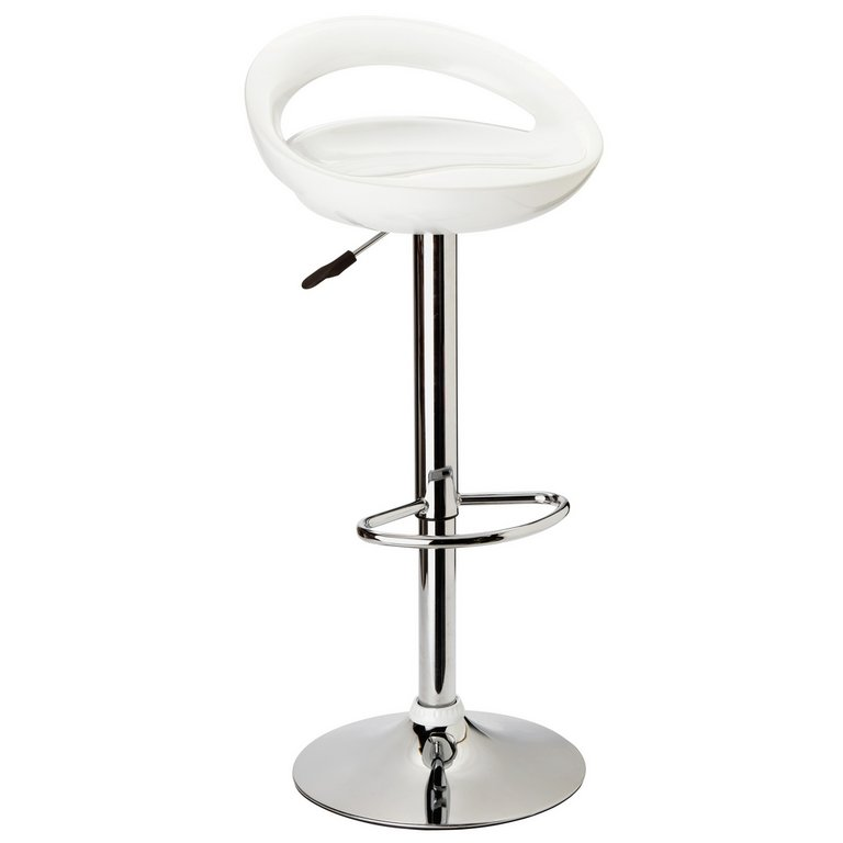 Buy HOME Ottawa White Bar Stool at Argos Your line Shop for Bar stools and chairs Dining room furniture Home and garden