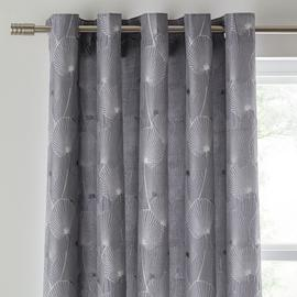 Argos Home Ginko Jaquard Lined Eyelet Curtains