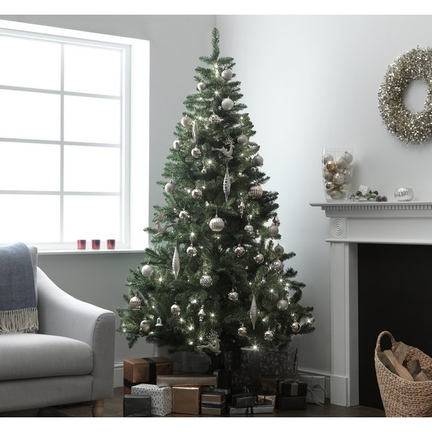 Buy Argos Home 7ft Pre Lit Christmas Tree Green Artificial Christmas Trees Argos
