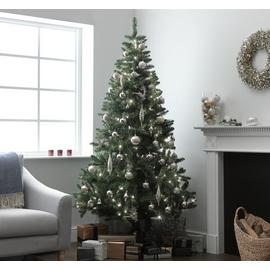 Argos Home 7ft Pre-lit Christmas Tree - Green