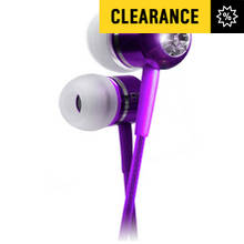 BassBuds In Ear Headphones with MP3 Controller - Purple