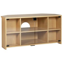 Argos Home Chequer Corner TV Unit - Beech Effect