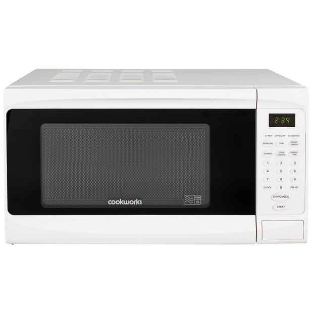 buy cookworks 700w standard microwave em7  white at argos
