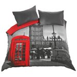 more details on HOME London Phonebox Bedding Set - Kingsize.