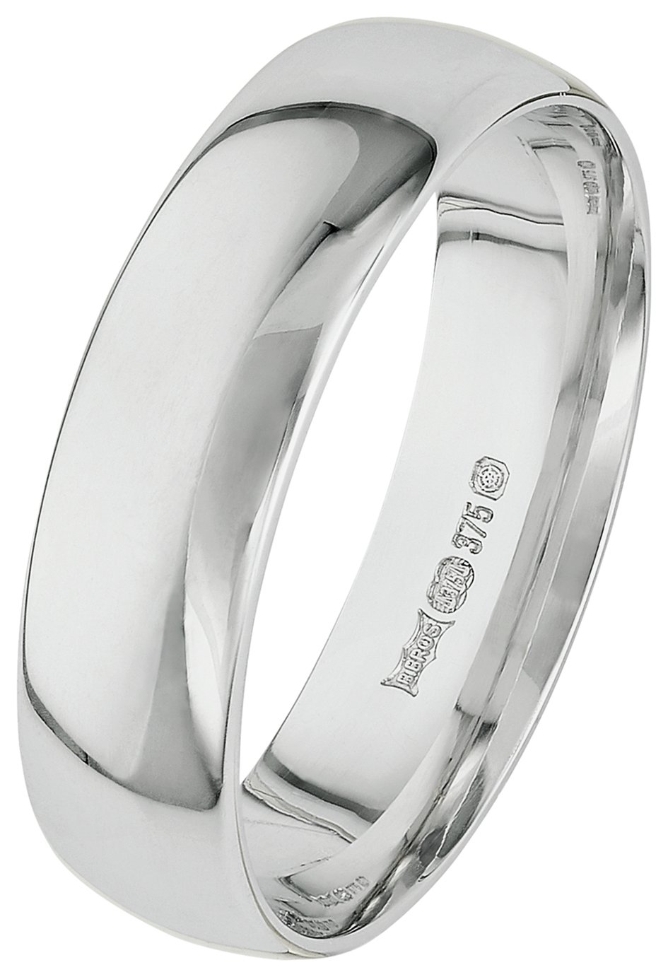 9ct white gold Mens wedding rings and bands Argos