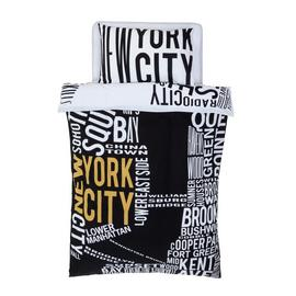 Argos Home NYC Word Map Bedding Set - Single