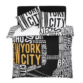 Argos Home NYC Word Map Bedding Set - Superking