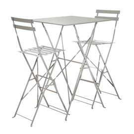 Argos Home Eve 2 Seater Bar Bistro Set - Grey