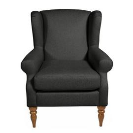 Argos Home Bude Fabric Wingback Chair - Charcoal