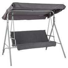 Argos Home 3 Seater Metal Swing Chair - Grey