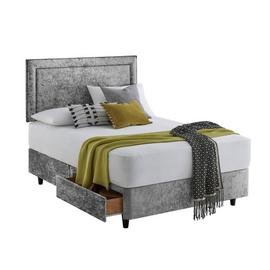 Silentnight Toulouse Double Divan & Headboard – Silver