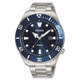 Pulsar Men's Diver-Inspired Stainless Steel Bracelet Watch
