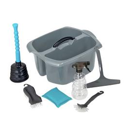 Addis 7 Piece Cleaning Caddy Set - Grey