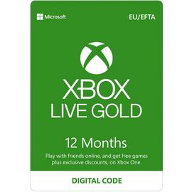 Xbox Live Gold 12 Month Subscription Digital Download