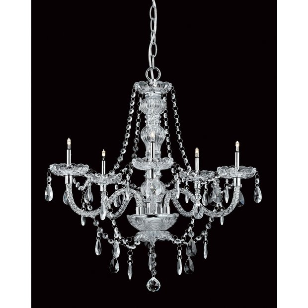 Crystal Wall Lights Argos : Buy Imperia Crystal 5 Bulb Chandelier - Chrome at Argos.co.uk - Your Online Shop for Ceiling and ...